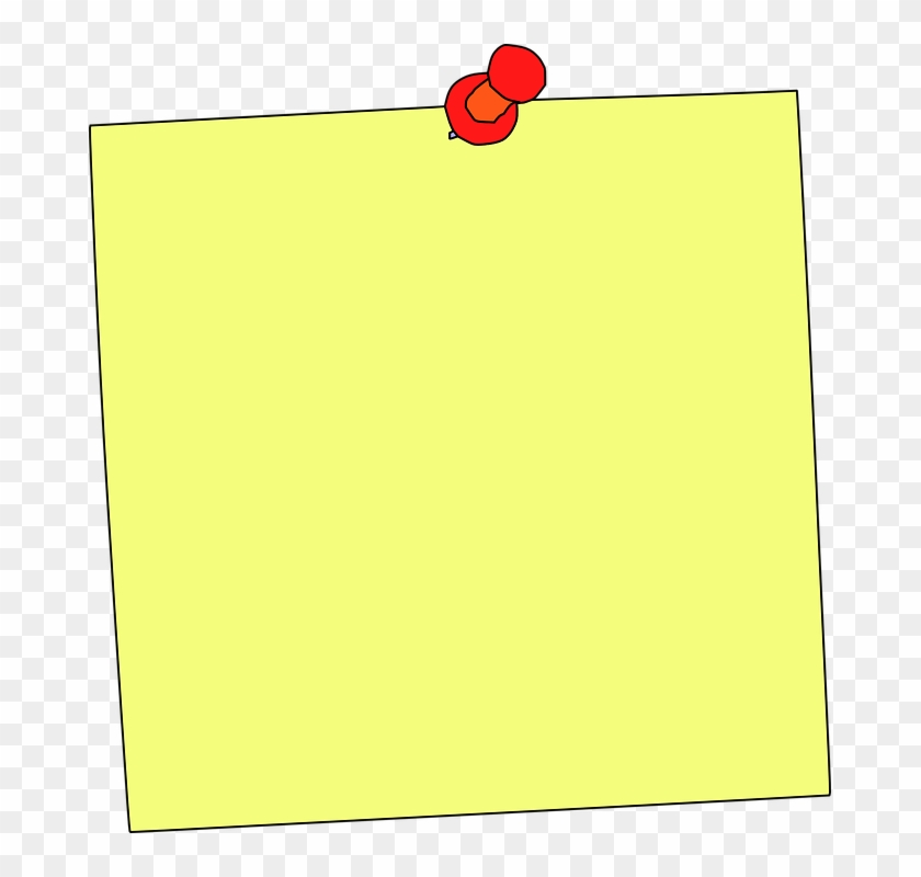 Sticky Note Note Reminder Memo Education Paper - Notice Board Pin