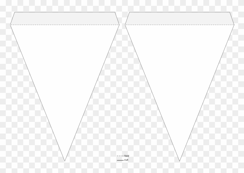 Medium Image - Triangle Flag Banner Template - Free Transparent PNG