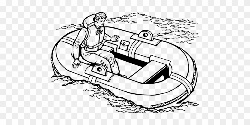 Boat Emergency Lifeboat Life Raft Raft Saf - Lifeboat Coloring Pages
