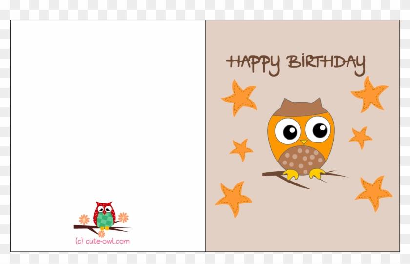 Free Printable Owl Themed Birthday Card - Printable Girl Birthday