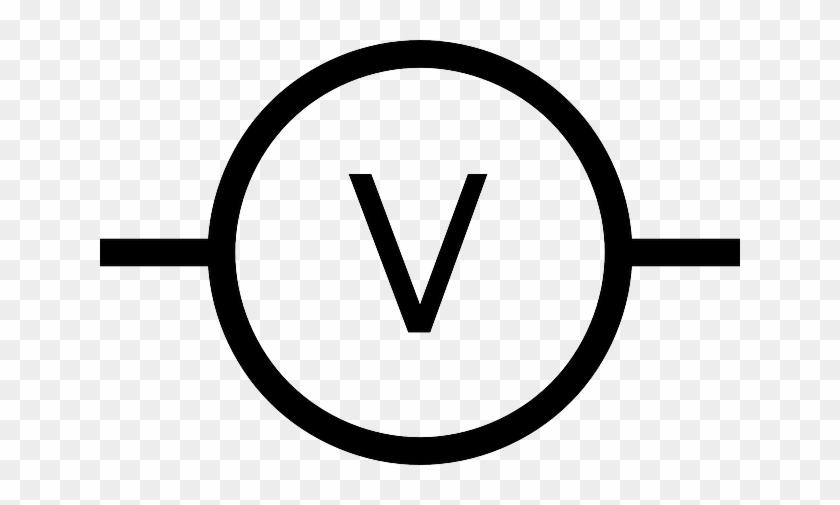 voltmeter schematic symbol