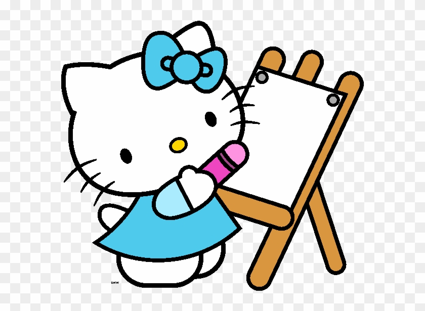 Hello School Cliparts - Printable Hello Kitty Coloring Pages - Free