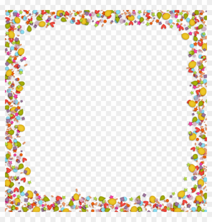 Confetti Clipart Border For Kids - Background For Microsoft Word