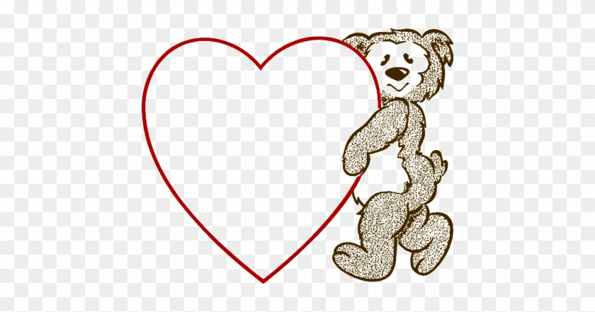Bear Heart - Valentines Day Heart Template - Free Transparent PNG
