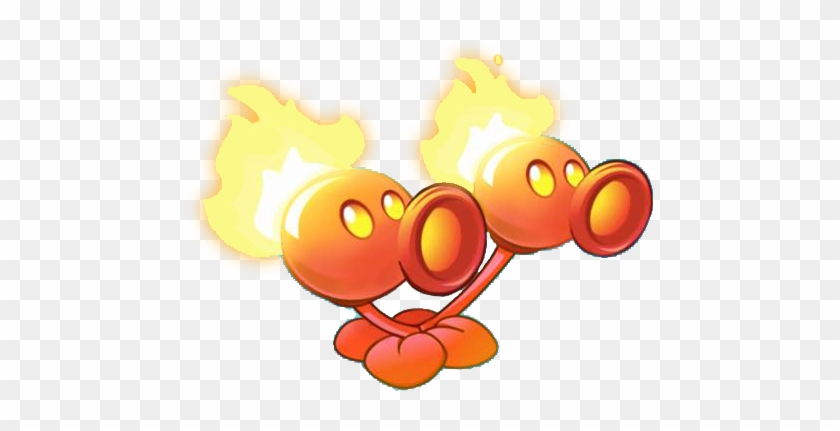 Graphic Transparent Image Twin Fire Png Plants Vs Zombies - Fire