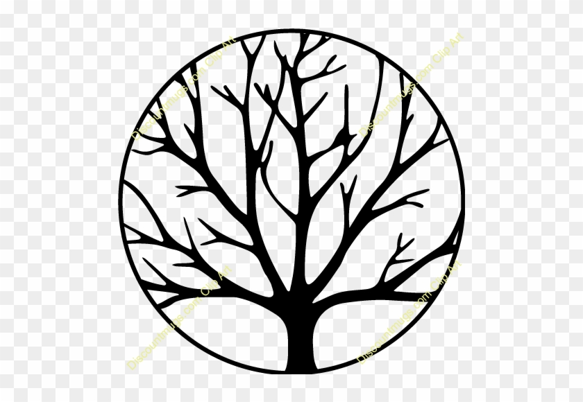 Swirly Family Tree Clip Art - Tree Without Leaves Coloring Page