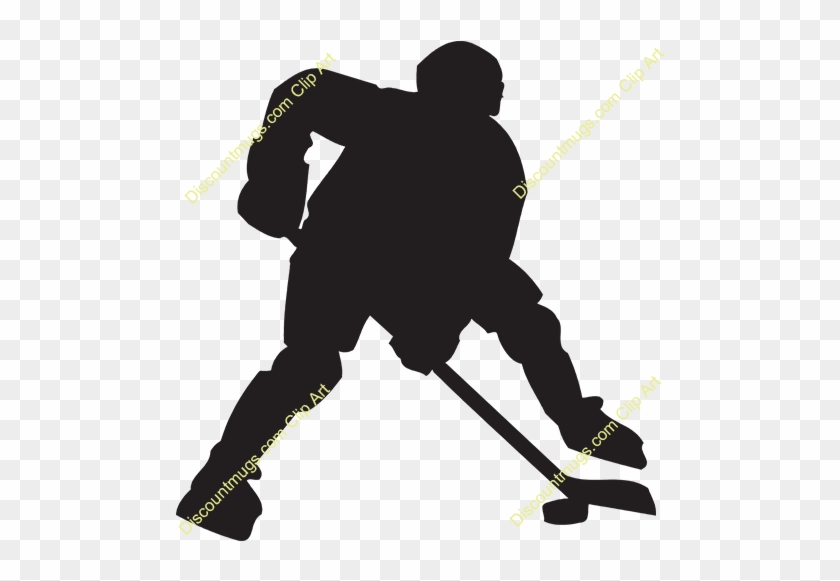 Clipart 11733 Hockey Player Mugs T Shirts Picture Clipart - Hockey