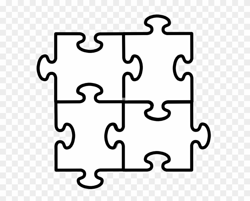 Connected Cliparts - Cut Out Puzzle Piece Template - Free