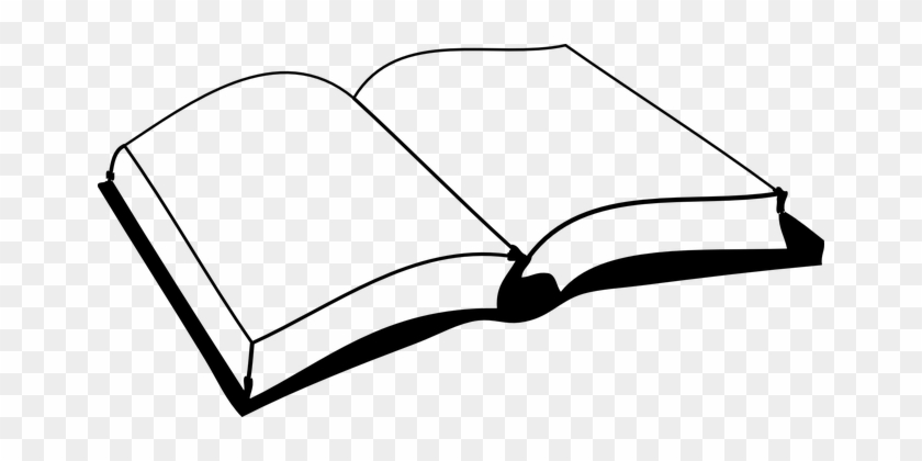 Book, Blank, Pages, Read, School, Open - Book Black And White - Free