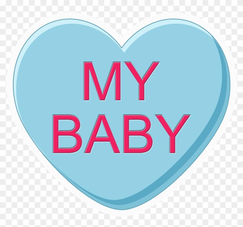Conversation Hearts - Blank Babysitting Flyer Template - Free