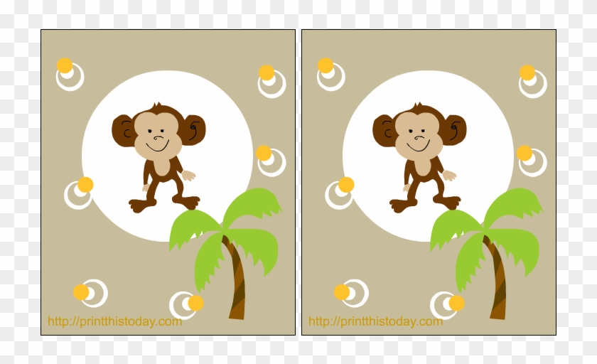 Cute Baby Monkey - Free Printable Monkey Birthday Invitations - Free