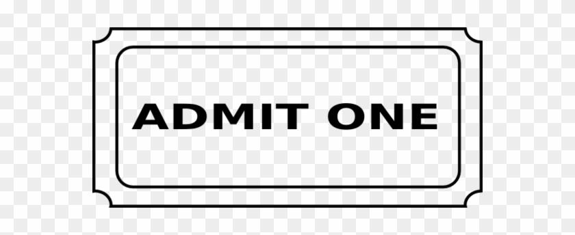 Movie Ticket Clip Art Cinema Tickets Powerpoint - Admit One Ticket