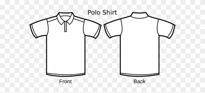Polo Shirt Template Line Art - Polo Tee Shirt Design Template - Free