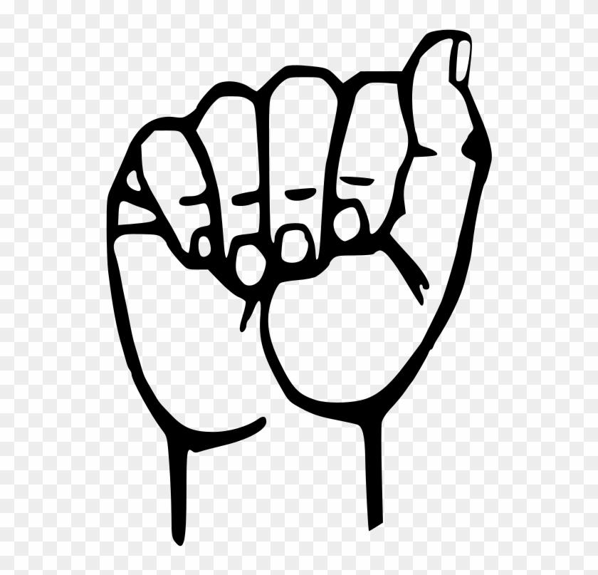 Sign Language A - American Sign Language Letter - Free Transparent