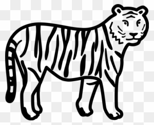 Tiger Clipart Black And White Free Transparent Png