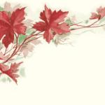 Victorian Autumn Leaf Illustration