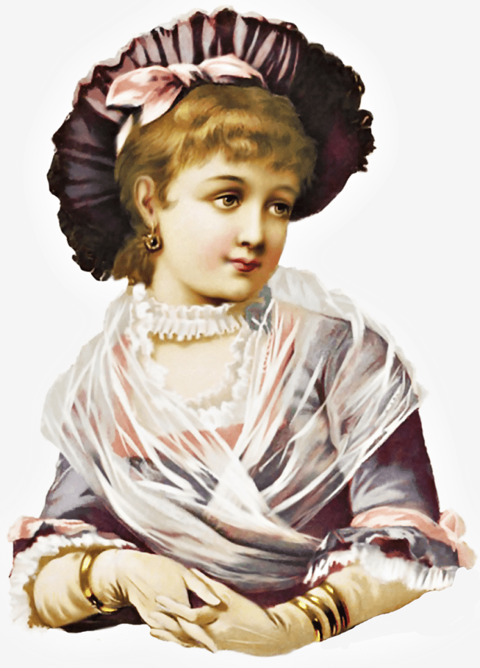 Victorian Lady In Purple