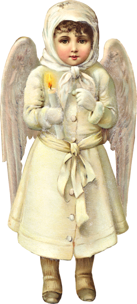 Victorian Christmas Snow Angel Graphic