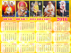 Sai Baba Hd 3d Wallpaper Download God Calendar Wallpaper Free 2016 God Calendar Design