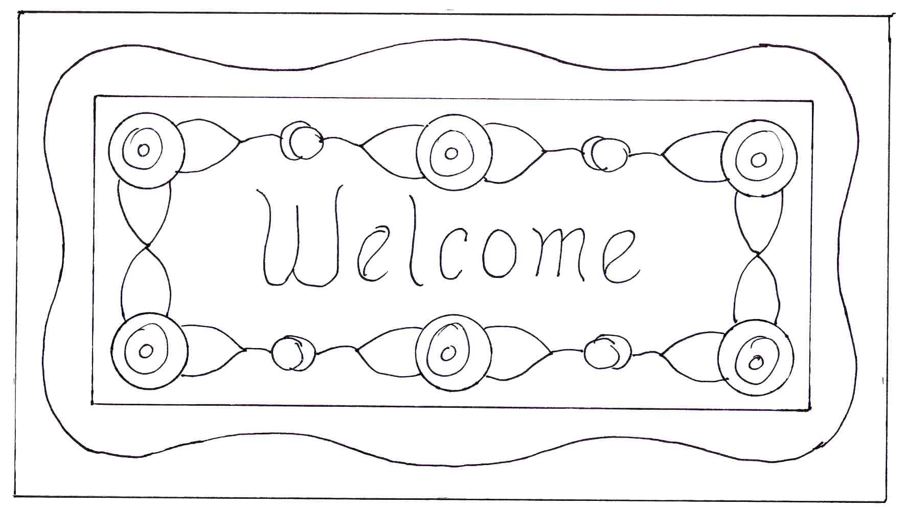 Welcome Coloring Pages - Eskayalitim
