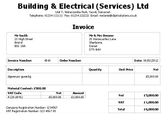Basic Invoice Example Sample Resume – Sales Invoice Example