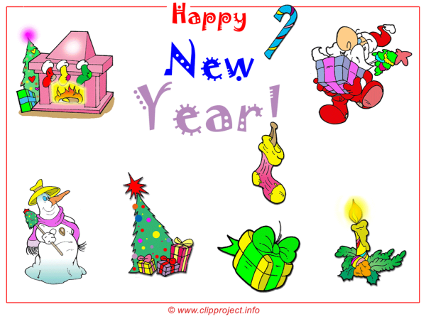Merry Christmas and Happy New Year free Clipart Wallpaper 1024x768 px. 1024 x 768.Free Happy New Year Clip Art.com