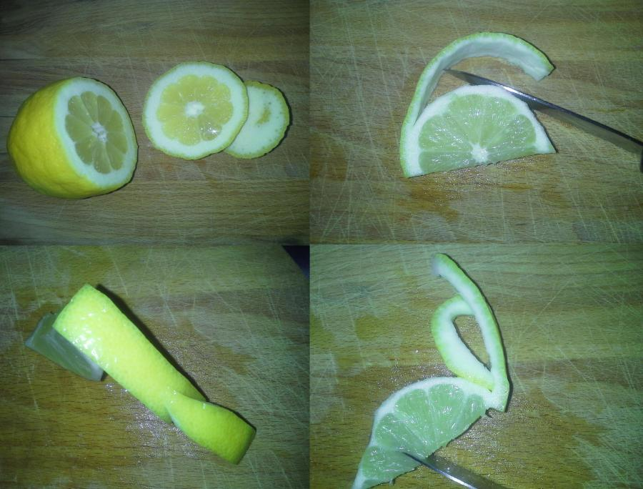 Lemondrop Garnish: The Flying V cuts
