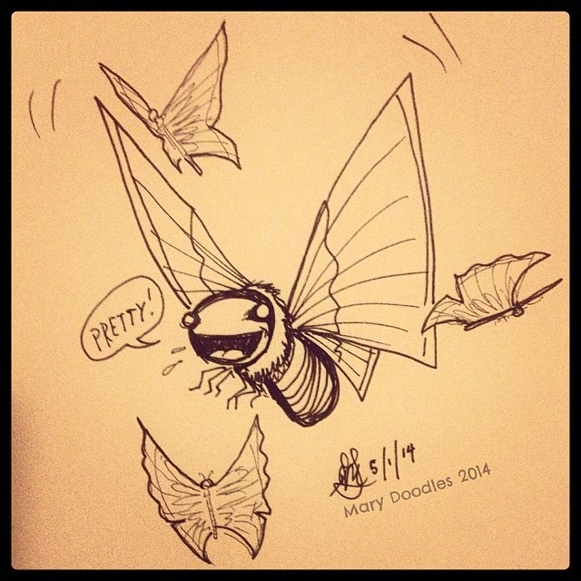 butterfly-doodle
