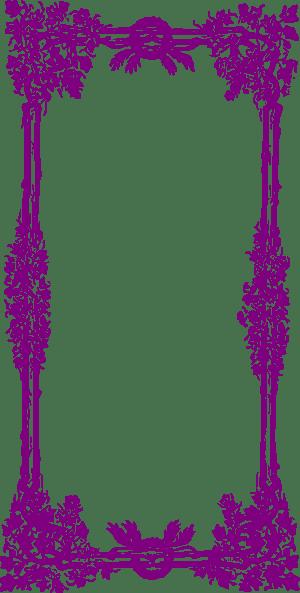 Purple Frame Border Clip Art