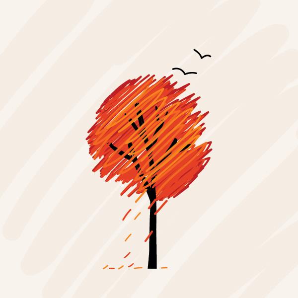 Fall Flowers And Pumpkins Wallpaper Fall Tree Free Images At Clker Com Vector Clip Art