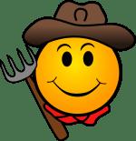 Farmer Smiley Face Clip Art