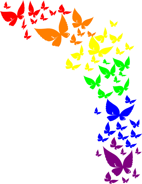Rose Flower Wallpaper Hd Free Download Rainbow Butterfly Clip Art At Clker Com Vector Clip Art