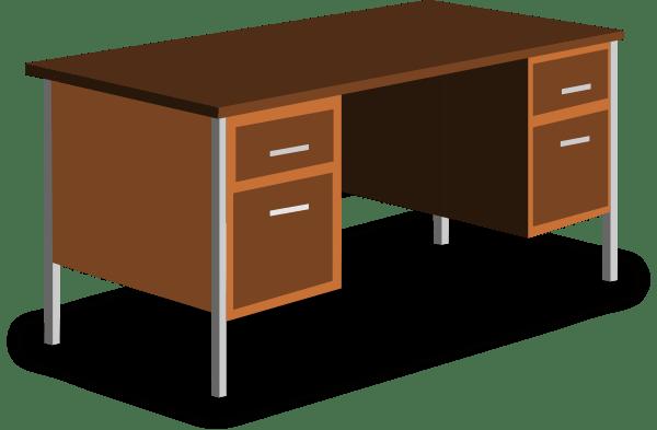 An Office Desk Clip Art At Clkercom Vector Clip Art