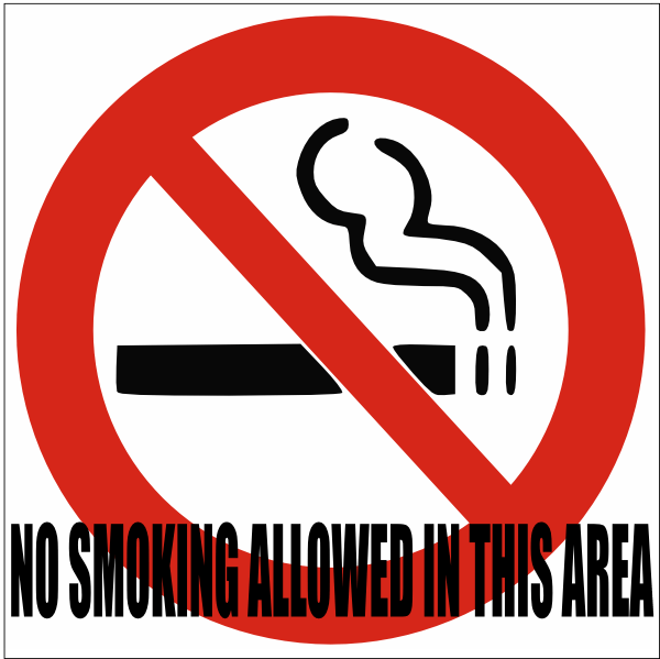 no smokeing sign