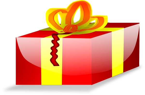 Red Wrapped Christmas Present Clip Art At Clkercom