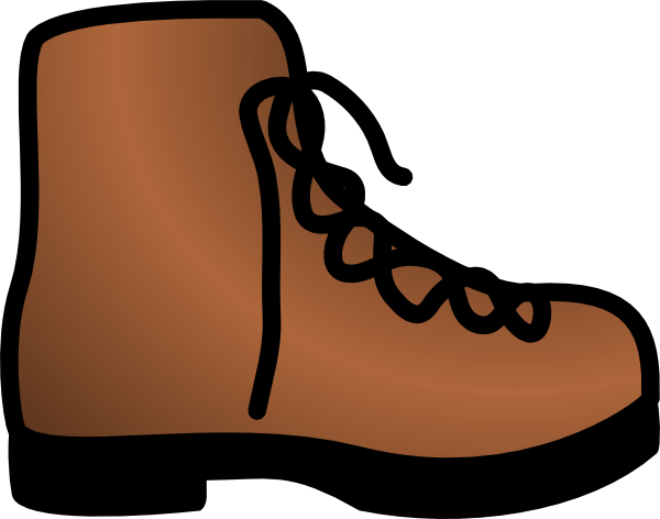 Simple Brown Boot Clip Art At Clkercom Vector Clip Art