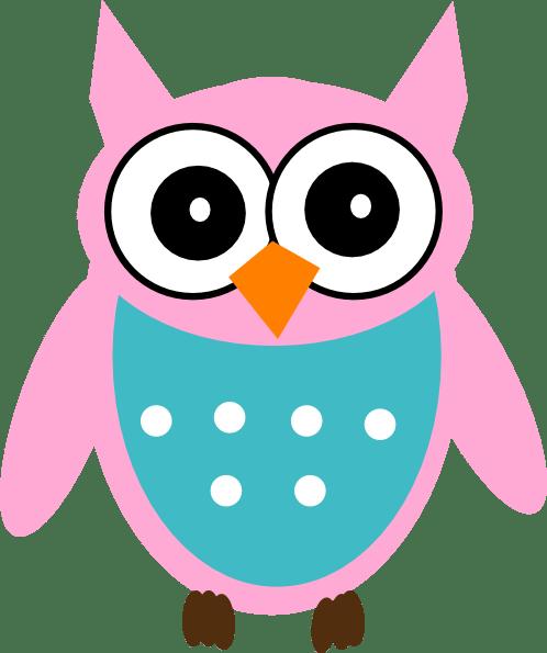 Sweet Smart Girl Wallpaper Pink Owl Clip Art At Clker Com Vector Clip Art Online