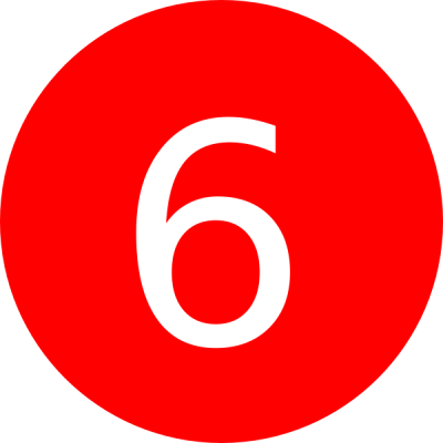 Number 6 Red Background Clip Art at Clker.com - vector clip art online, royalty free & public domain