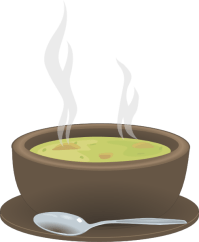 Hot Steaming Bowl Of Soup Clip Art at Clker.com - vector ...