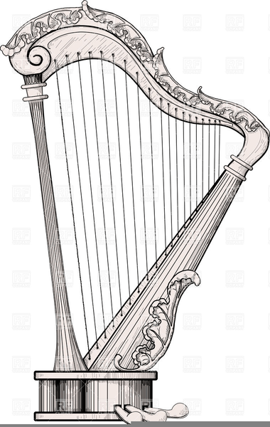 harp and branch clip art at clker com auto electrical wiring diagramirish harp clipart