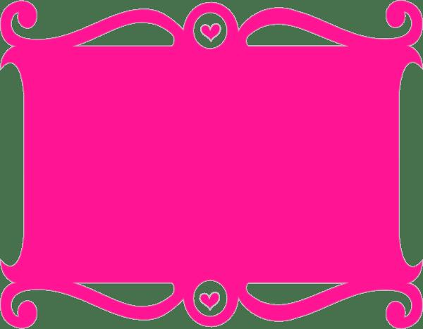 Wallpaper Cute Girl Free Download Frame Pink Heart Clip Art At Clker Com Vector Clip Art