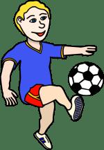 Boy Soccer Player Clip Art