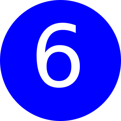 Number 6 Blue Background Clip Art at Clker.com - vector clip art online, royalty free & public ...