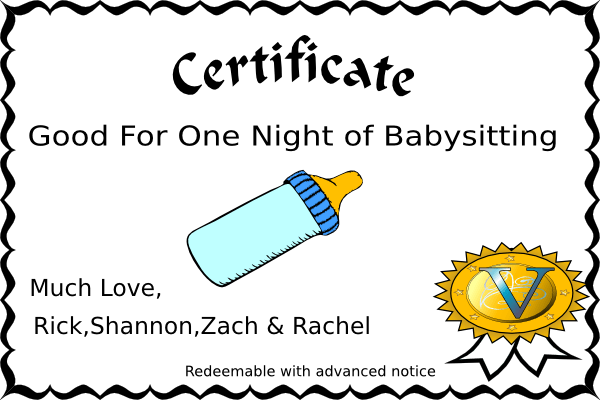 Free Babysitting Coupon Template | Sample CV Service