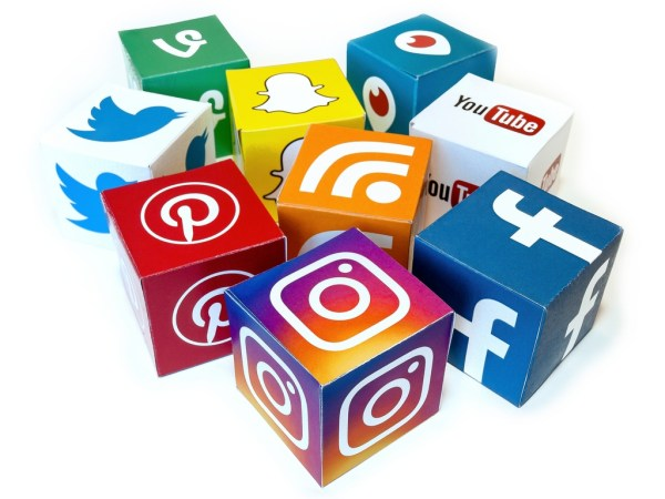 Social Media icons shown as cubes