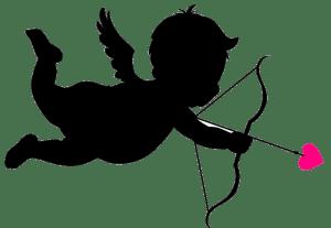clockworkTalent Cupid with Pink Arrow Head transparent background