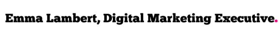 emma lambert digital marketing executive at clockworktalent signature