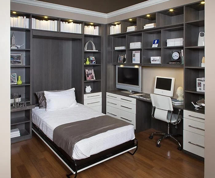 Home Office with Hidden Wall Bed