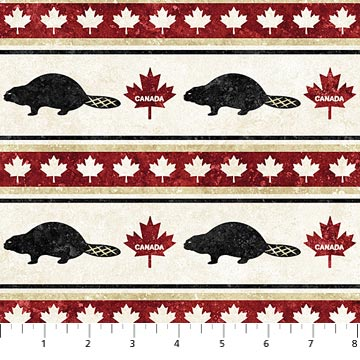 Fall Rug Wallpaper Stonehenge Oh Canada Beavers From Northcott Studio