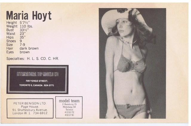 INTERNATIONAL TOP MODELS MARIA HOYT 1973